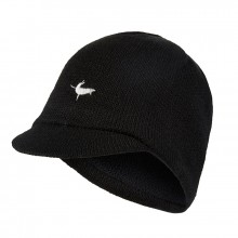 Peaked Beanie Hat - Black